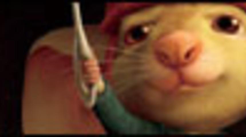 Affiche en français du film d'animation Le conte de Despereaux