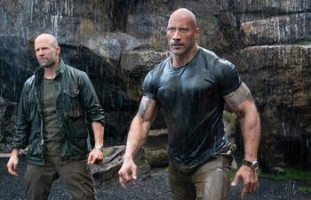 Photos : The Rock et Jason Statham en pleine forme dans le film Hobbs & Shaw